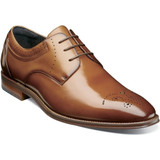 Stacey Adams Men's Batlin Plain Toe Oxford - Cognac - Angle