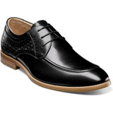 Stacy Adams Men's Fielding Moc Toe Oxford - Black - Angle