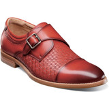 Stacy Adams Men's Fenwick Cap Toe Monk Strap - Cranberry - Angle