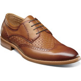 Stacy Adams Men's Fallon Wingtip Oxford - Tan - Angle
