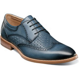 Stacy Adams Men's Fallon Wingtip Oxford - Blue - Angle