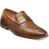Stacy Adams Men's Belmiro Moc Toe Ornament Slip On - Tan - Angle