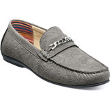 Stacy Adams Men's Clem Moc Toe Bit Slip On - Gray - Angle