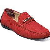 Stacy Adams Men's Clem Moc Toe Bit Slip On - Red - Angle