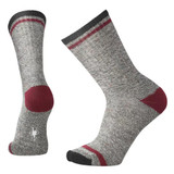 Smartwool Men's Larimer Crew Socks - Charcoal Heather / Tibetan Red - Dual