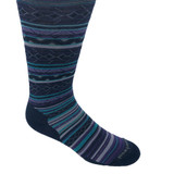 Smartwool Women's Ethno Graphic Crew Socks - Blue / Purple - Profile