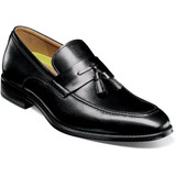 Florsheim Men's Amelio Moc Toe Tassel Slip-On - Black - 14265-001 - Profile