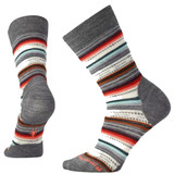 Smartwool Women's Margarita Socks - Gray Heather / Bright Coral - Dual