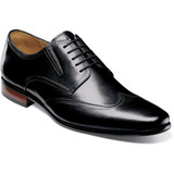 Florsheim Men's Postino Wingtip Oxford - Black - 15181-001 - Black