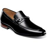Florsheim Men's Postino Moc Toe Bit Slip-On - Black - 15184-001 - Profile