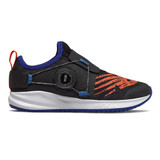 New Balance Kid's FuelCore Reveal - Black / Marine Blue/ Team Orange - Profile Pic