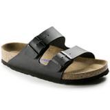 Birkenstock Arizona Soft Footbed - Black Birko-Flor (Regular Width)  - 551251 - Angle