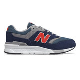 New Balance Kid's 997H - Natural Indigo / Neo Flame - Profile Pic