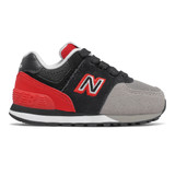 New Balance Infant's 574 Sport Pack - Black / Team Red - Profile Pic