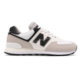 New Balance Men's 574 Men's Classics - White with Tan - ML574RW2 - Profile