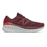 New Balance Men's Fresh Foam More - Henna with Energy Red - MMORHN - Profile