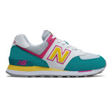 New Balance 574 Women's Classics - Marblehead with Mystic Purple - Profile
