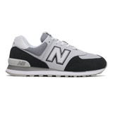 New Balance Men's 574 Classics - Black and White - Profile