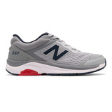 New Balance Men's 847v4 Walking - Silver Mink with Gunmetal - MW847LG4 - Profile
