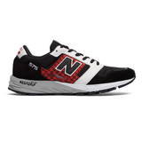 New Balance Men's 575v1 - Black with White and Red  - MTL575HJ - Profile