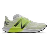 New Balance Men's FuelCell 890v8 - White with Lemon Slush - M890WY8 - Profile