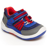 Stride Rite Kid's SRTech Jasper Sneaker - Blue with Red - BB006701 - Profile
