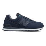 New Balance Men's 574 Classics - NB Navy with White - ML574GYZ - Profile