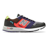 New Balance Men's 575 - Black with Red and Purple - MTL575MM - Profile
