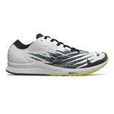 New Balance Men's 1500v6 - White with Sulphur and Tidepool - M1500GW6 - Profile