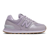 New Balance Women's 574 - Thistle with Silver - WL574PMC - Profile
