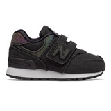 New Balance Infant 574 Hook and Loop - Black - IV574KM - Profile