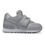 New Balance Infant 574 Hook and Loop - Silver - IV574KS - Profile