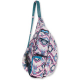Kavu Mini Rope Bag - Purple Ikat - Front