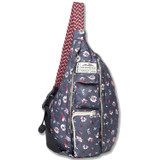 Kavu Mini Rope Puff Bag - Pressed Flowers - Front