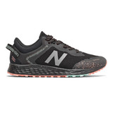 New Balance Kid's Fresh Foam Arishi Trail - Black with Bali Blue and Ginger Pink - YPTARIB1 - Profile