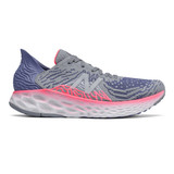 New Balance Women's 1080v10 Fresh Foam Running - Steel with Magnetic Blue - W1080B10 - Profile