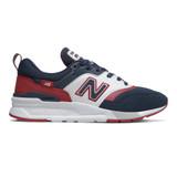 New Balance Men's 997H - Natural Indigo with Neo Crimson - Profile