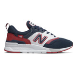 New Balance Men's 997H - Natural Indigo with Neo Crimson - Profile