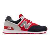 New Balance Men's 574 Classics - Eclipse with Team Red - Profile