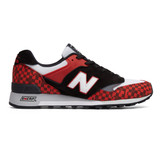 New Balance Men's Made in England 577 - Black with White and Red - M577HJK - Profile