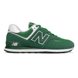 New Balance Men's 574 Classics - Team Forest Green with Varsity Green - ML574SSP - Profile