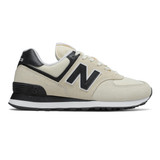 New Balance Women's 574 Classics - Angora with Black - WL574LBA - Profile
