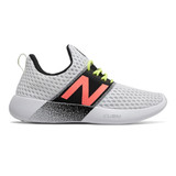 New Balance Women's RCVRY v2 - White with Black and Lemon Slush - Profile