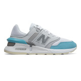 New Balance Women's 997 Sport - White / Sky Blue - Profile
