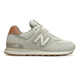 New Balance Women's 574 Classics - Angora with Faded Mahogany - WL574BCV - Profile