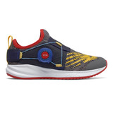 New Balance Boy's New Balance Kid's Fuel Core Reveal Boa - Castlerock with Vision Blue - PKRVLLG2 - Profile