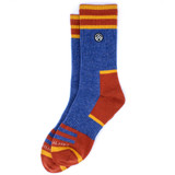 Sky Outfitters Merino Wool Crew Socks - Blue and Red - Profile