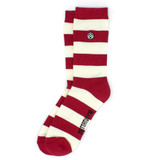 Sky Outfitters Indiana Hoosier Crew Socks - Cream and Crimson - Profile