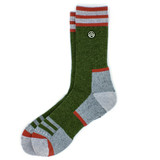 Sky Outfitters Merino Wool Crew Socks - Green and Red - Profile