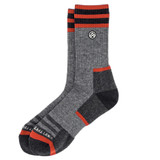 Sky Outfitters Merino Wool Crew Socks - Gray and Red - Profile